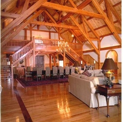 timber frame home douglas fir timber great room