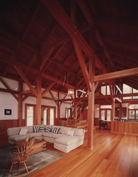 timber frame home reclaimed douglas fir timbers